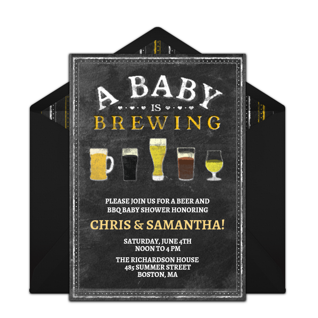 Free A Baby Is Brewing Invitations