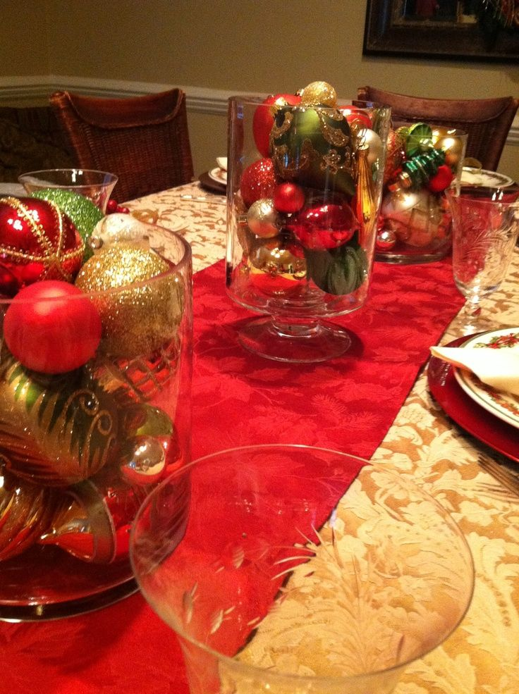 Christmas In July Wedding.Christmas Ornament Centerpieces Christmas Centerpiece