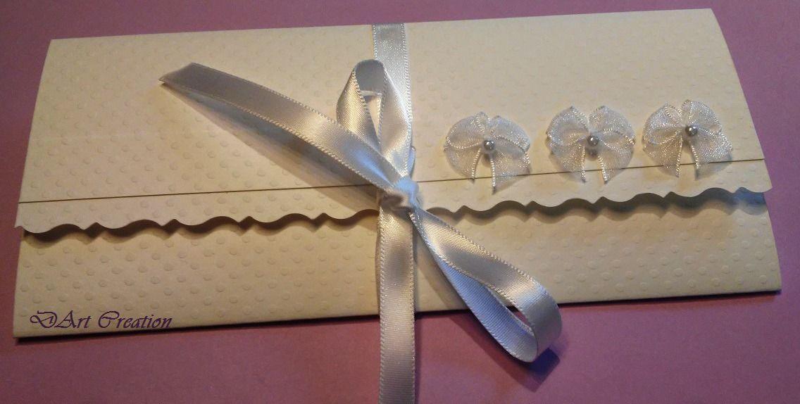 Enveloppe Elégante Pour Chèque Cadeau Carte Cadeau De