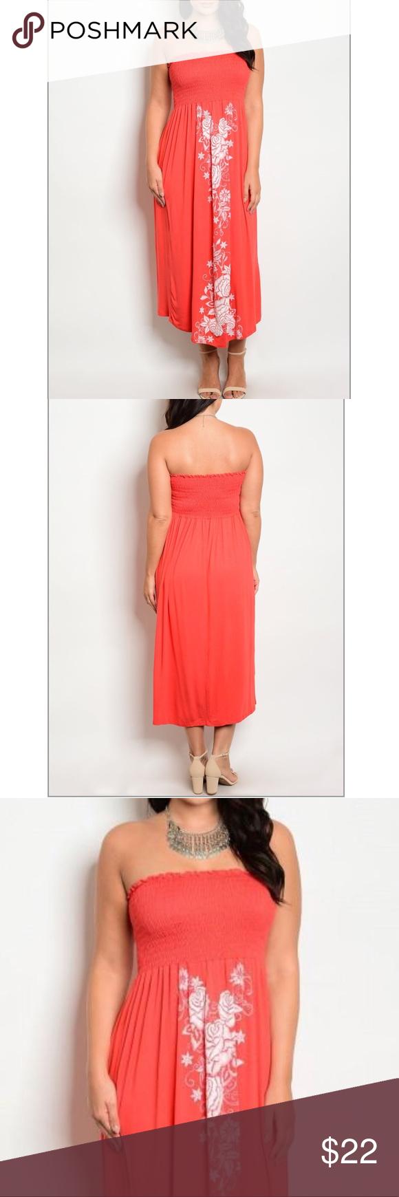 2x 2xl Plus Size Floral Print Smocked Maxi Dress Smocked Maxi Dresses Dresses Clothes Design [ 1740 x 580 Pixel ]