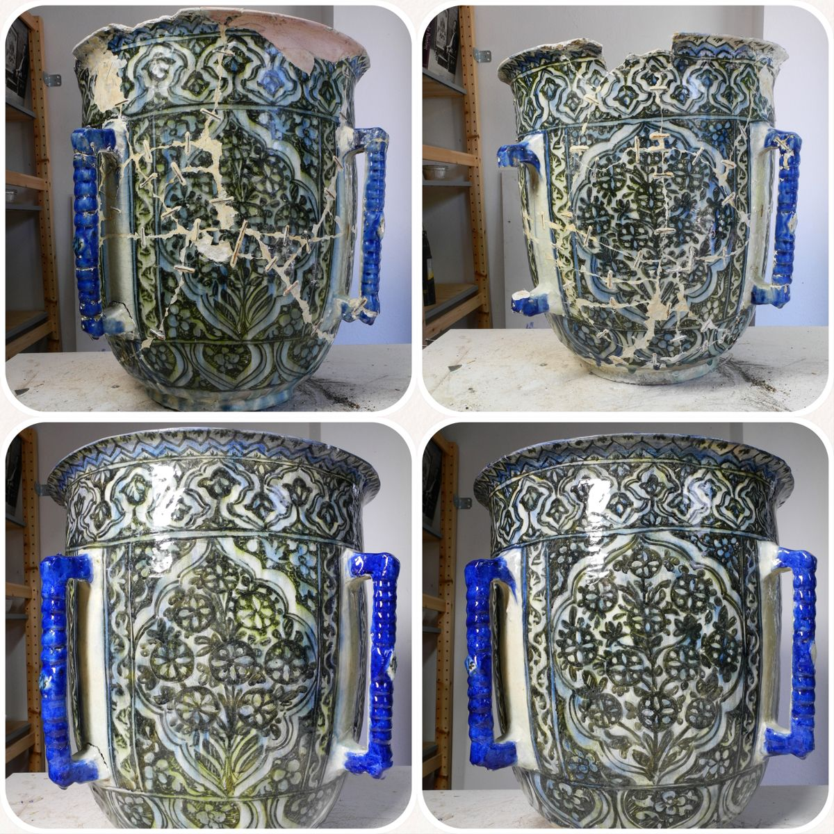 Restoration of ancient islamic pottery ; invisible ...