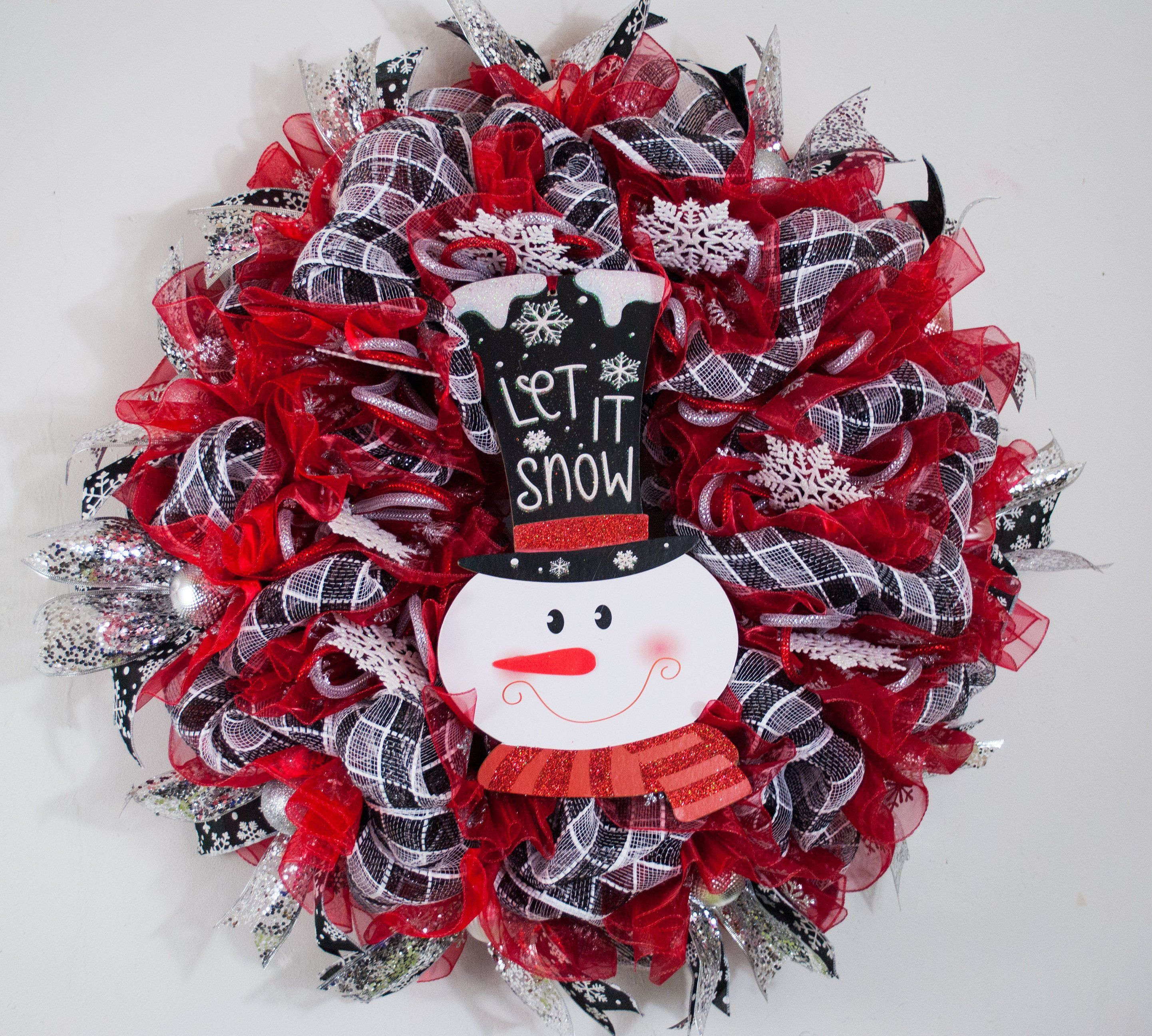 snowman mesh snowman wreath Christmas wreath Christmas Christmas decor wreaths door wreath snowman wreaths Snowman wreath wreath