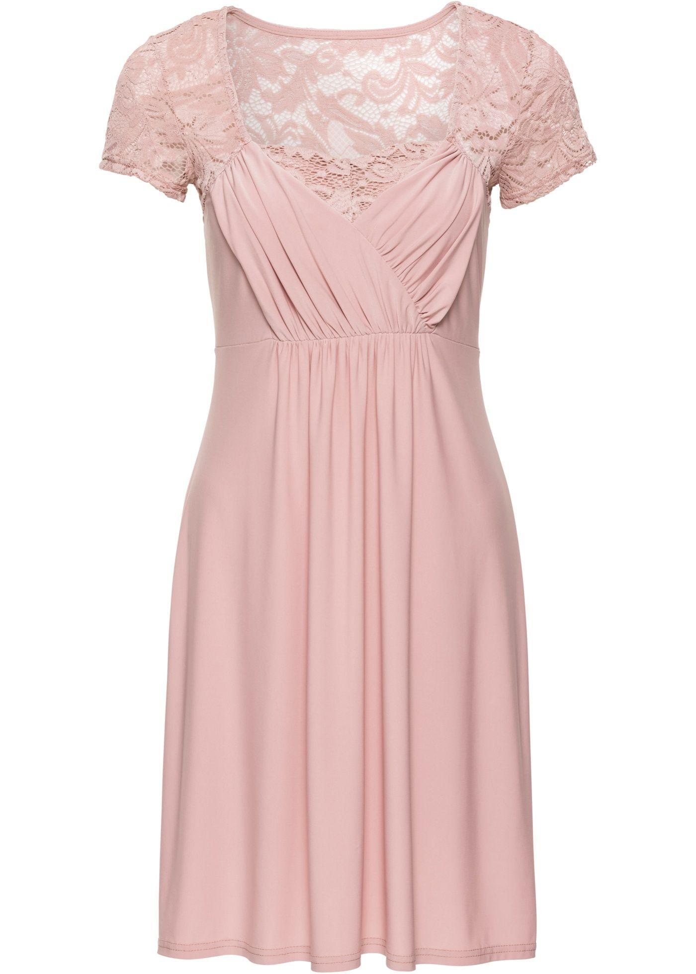 Jerseykleid mit Spitze  Schöne kleider, Kleider, Kleider online
