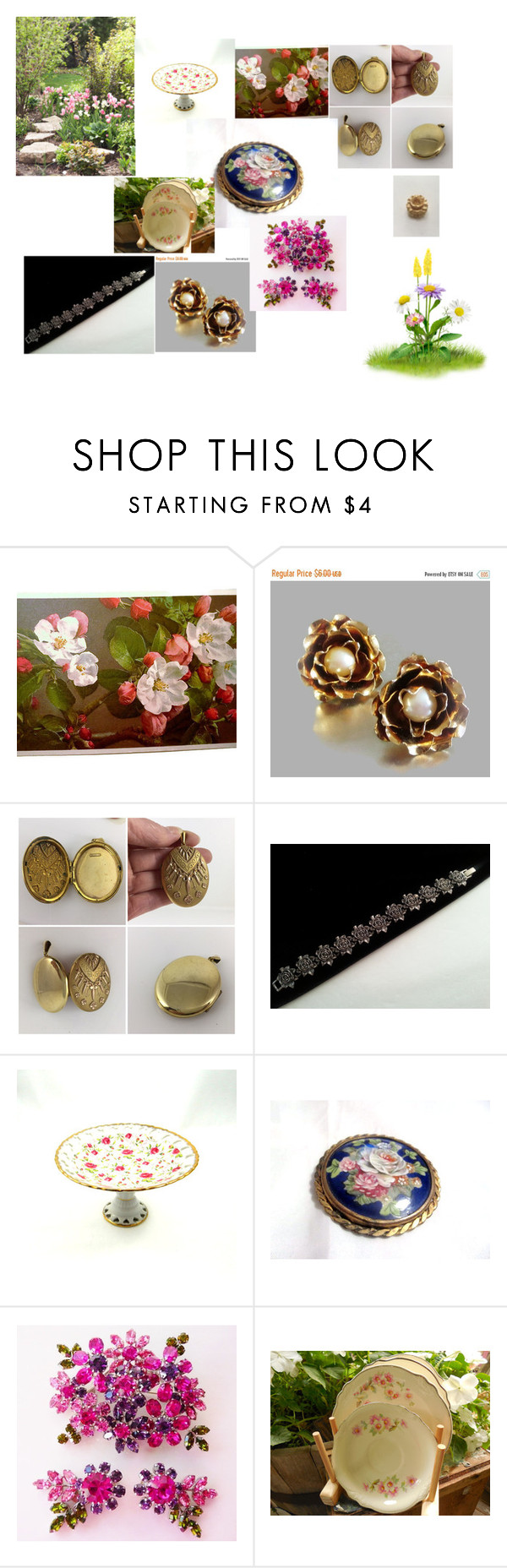 """""""Roses in the Gardens"""" by ourboudoirkate on Polyvore"""