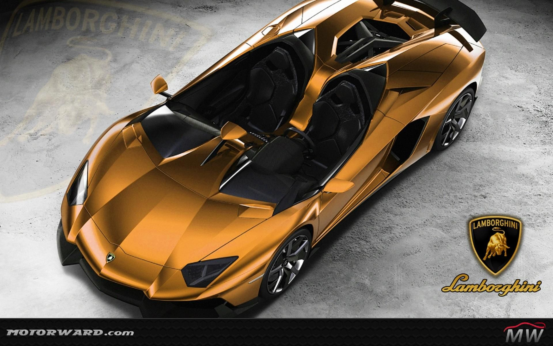 Download Lamborghini Aventador J Gold Free Desktop 8 HD Wallpapers .