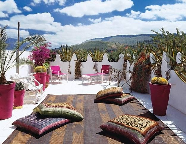 Moroccan Designs And Outdoor Home Decorating In Moroccas Style For Courtyards
