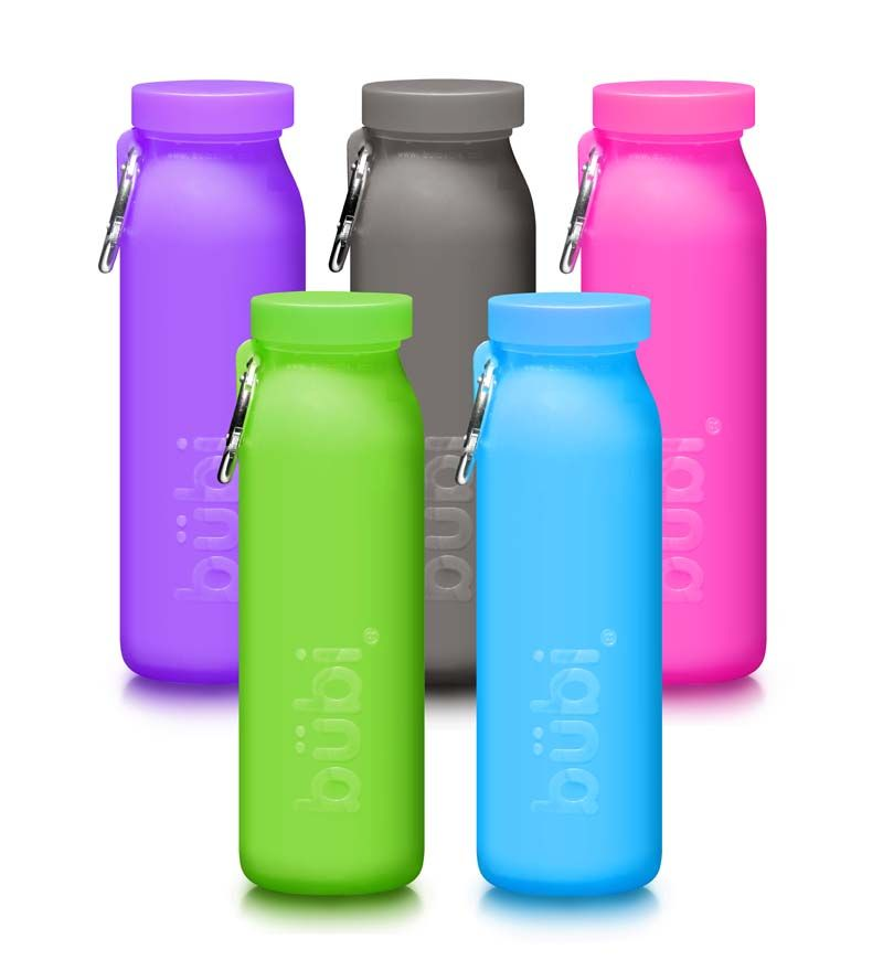 Water Bottle Uses: Bubi Silicone Water Bottle, 22 Oz BPA-free Reusable Water
