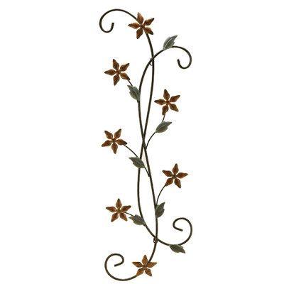 Fetco Home Decor Katelyn Floral Scroll Wall Décor & Reviews ...