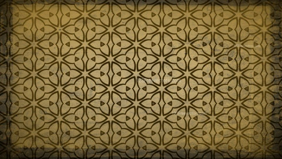 Dark Brown Vintage Decorative Floral Seamless Pattern ...