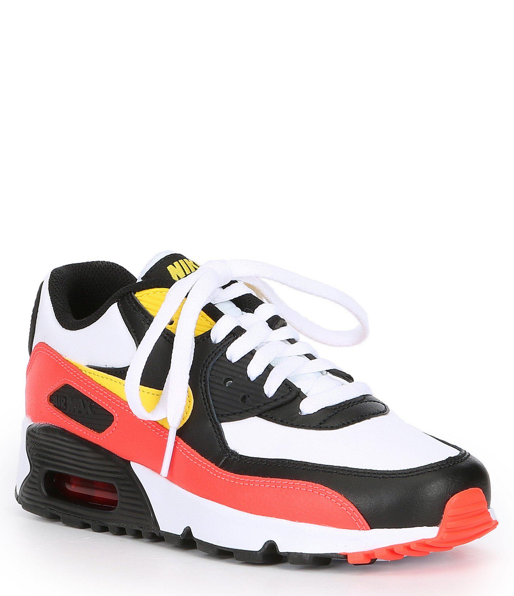 Nike Boys' Air Max 90 Lifestyle Shoes WhiteBlackBright