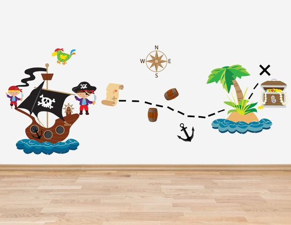 Pirate Theme Decal Set Wall Stickers Full By TheWallStickerComp   For The  Kids   Pinterest   Pirate Theme, Wall Sticker And Nursery Part 60