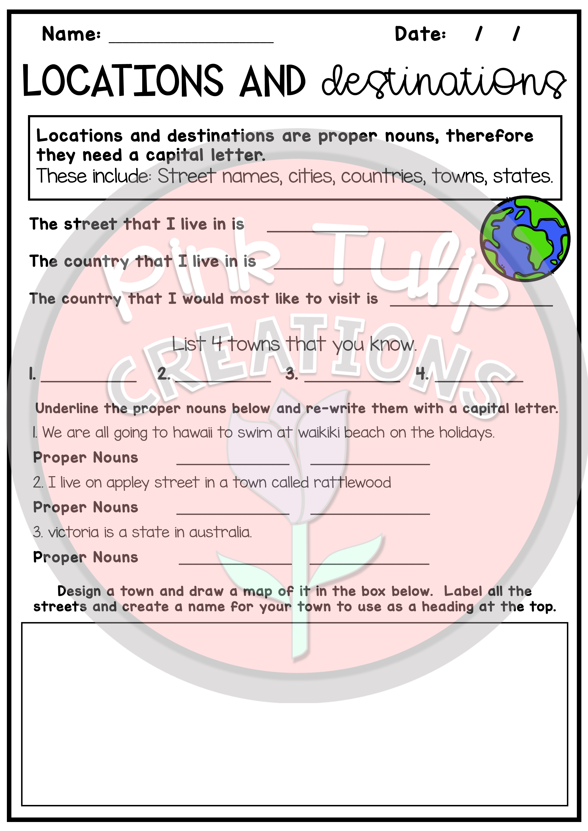 Nouns Worksheet Pack Common Proper Abstract Collective Pronouns