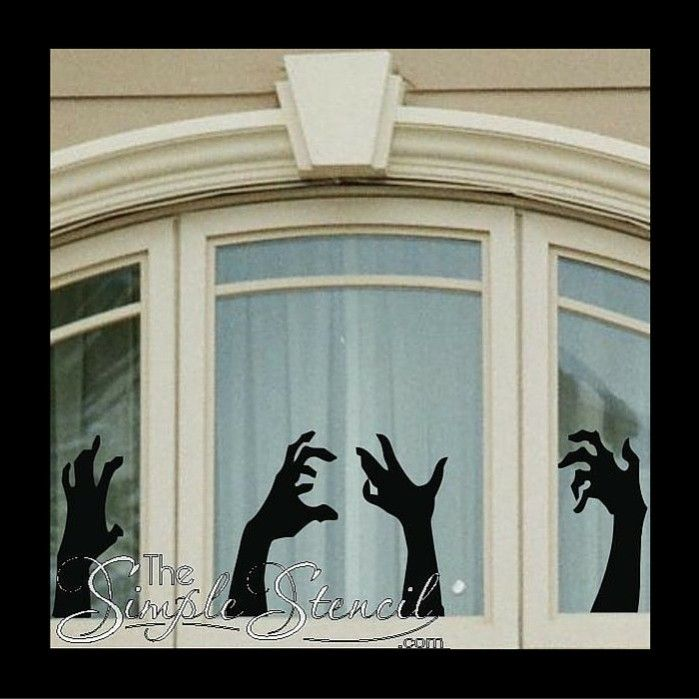 26 Creative Halloween Window Decor Ideas Digsdigs & 26 Creative Halloween Window Decor Ideas Digsdigs | halloween 2017 ...
