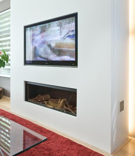 Wonderbaar tv boven open haard   Openhaard, Haard, Interieur NG-34