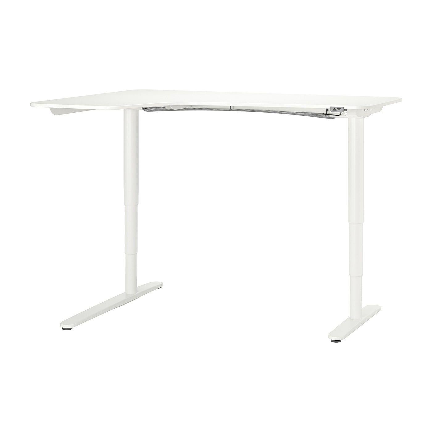 Ikea Bekant Corner Desk Left Sit Stand White Corner Desk White Corner Desk Ikea Bekant