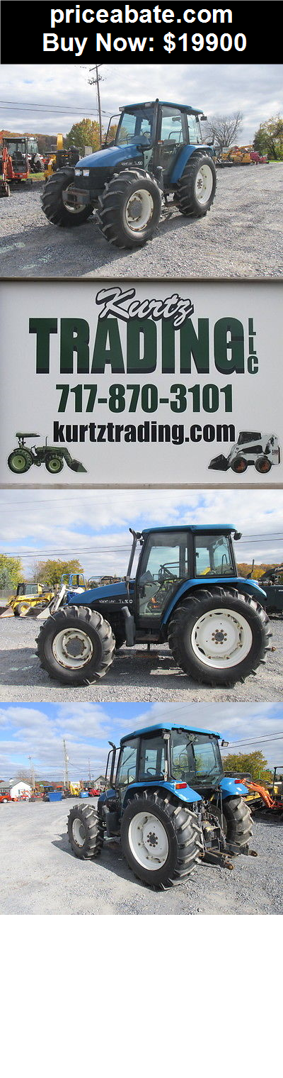 Heavy-Equipments: Nice New Holland TL100 4x4 Utility Tractor W/ Cab! - BUY IT NOW ONLY $19900
