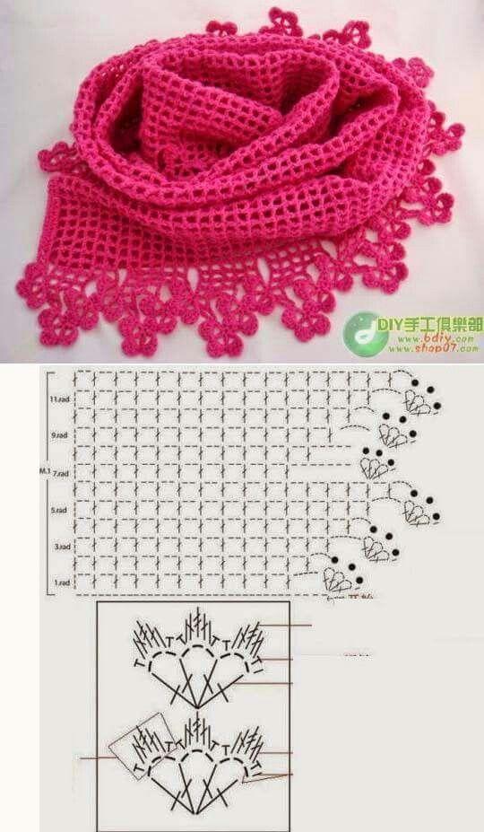 Pin de HAND-DIY en SHAWLS | Pinterest | Crochet fácil, Chal y Ganchillo