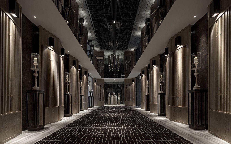 sales department Vanke Hotel corridor, Hotel interior design