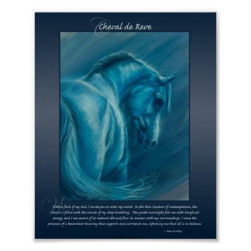 Cheval De Reve Poster Zazzle Com Art Equine Art Paintings Featured Art