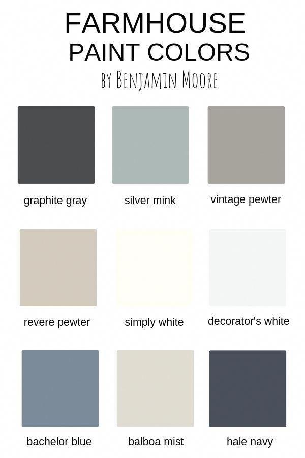 Farmhouse Paint Colors By Benjamin Moore Paintcolorsforlivingroom Bedroompaintcolors In 2020 Farmhouse Paint Colors Farmhouse Paint Paint Colors For Home
