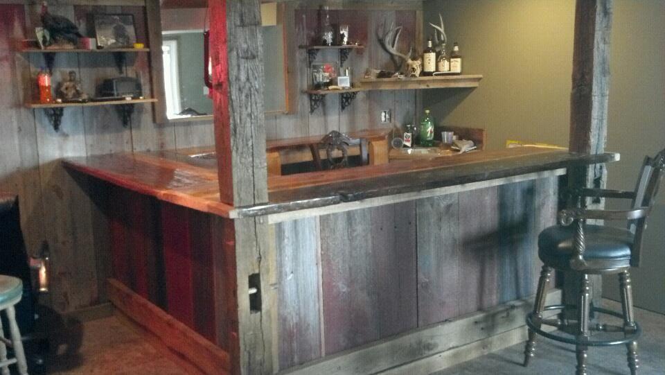 Refined Rustic Bar We Built For A Customer Near Liberty Mo Super Cool Rustic Bar Wood Bars Barn Wood