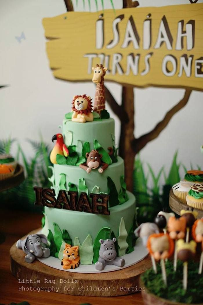 Jungle themed birthday party partyideas kidsparty birthday
