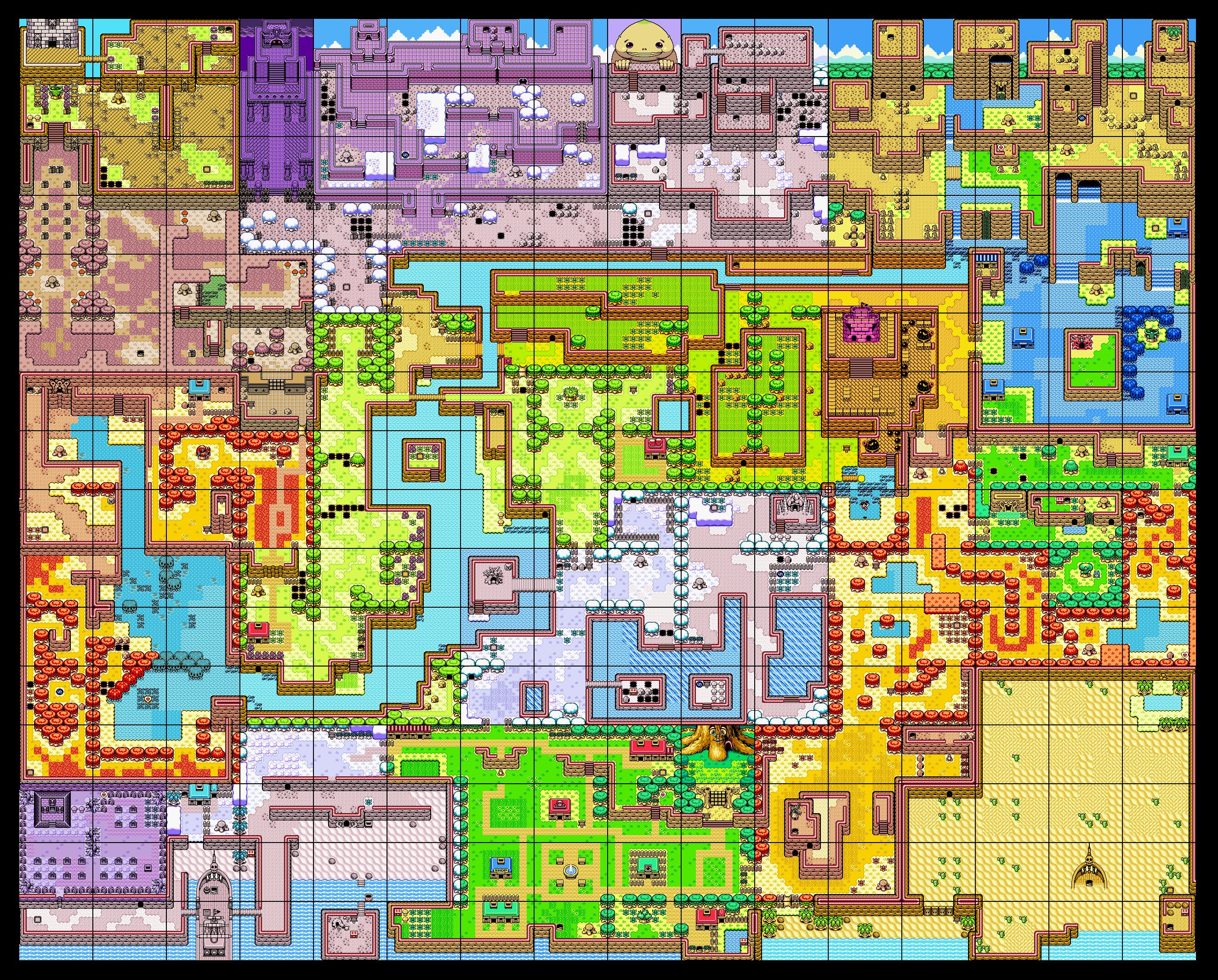 The Legend Of Zelda Oracle Of Seasons Map Of Holodrum Imágenes Creativas Visualizar Juegos