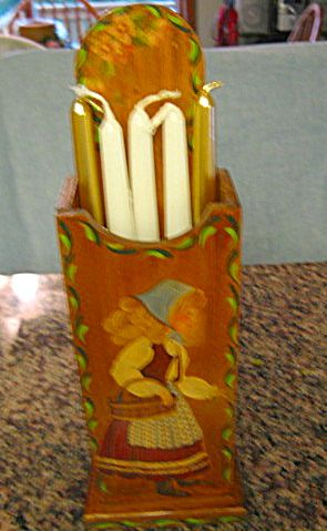 Hand painted candle box for sale at More Than McCoy at http://www.morethanmccoy.com