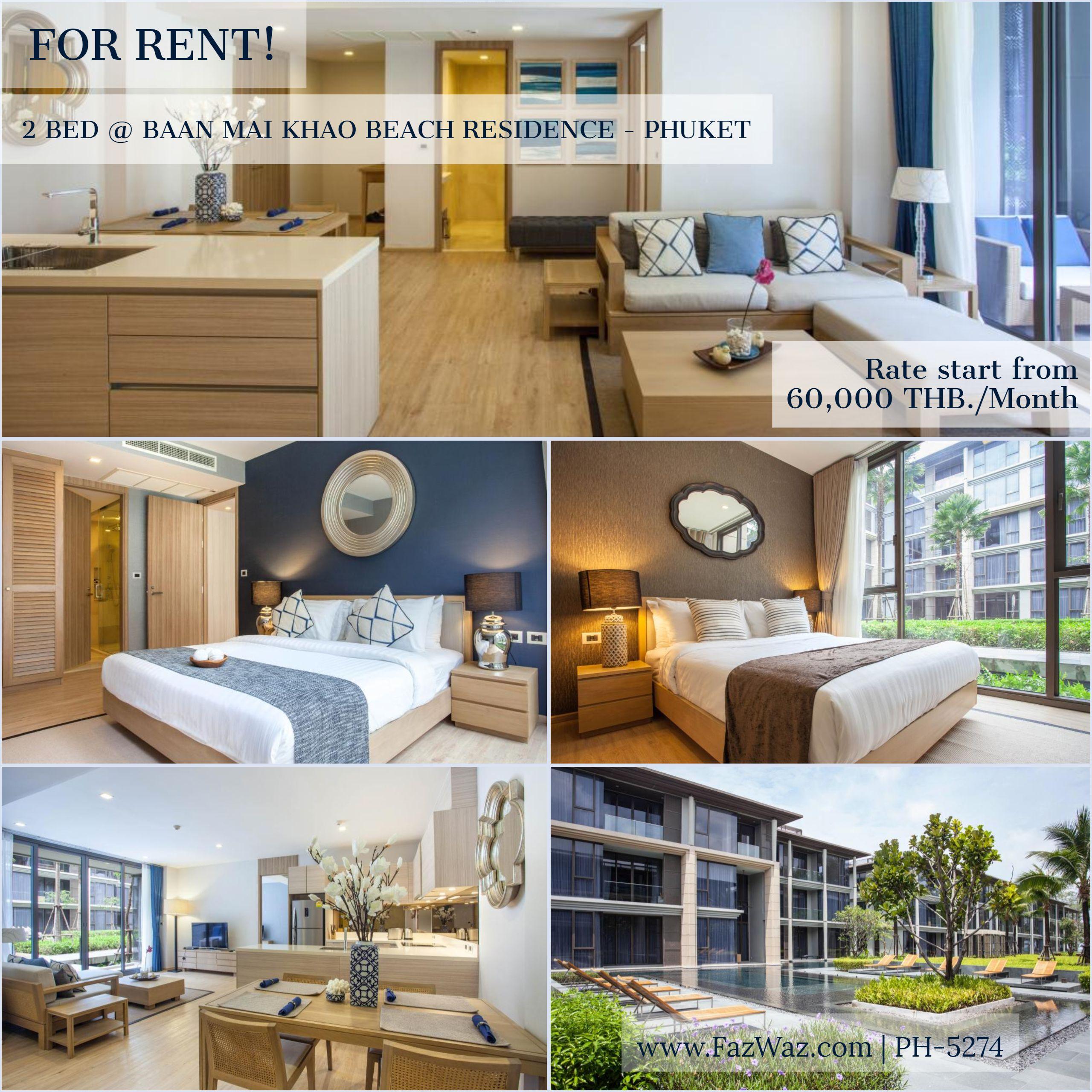 Modern 2 Bedroom Apartment For Rent In Phuket Apartments For Rent 2 Bedroom Apartment Apartment