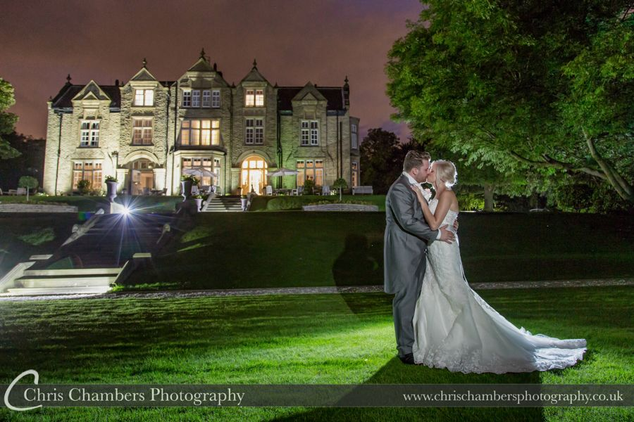 Woodlands Hotel wedding photography | Woodlands Hotel wedding photographer | http://www.chrischambersphotography.co.uk | Evening wedding photography of the bride and groom at Woodlands hotel