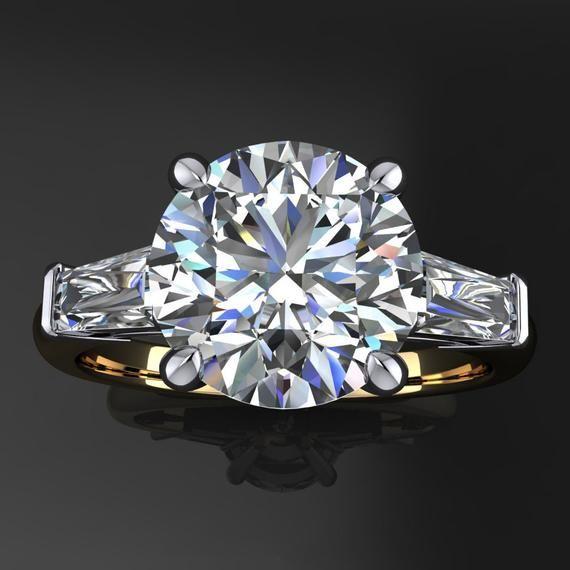 laurel ring – 2 7 carat diamond cut NEO moissanite