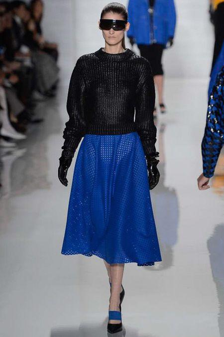 Michael Kors Fall 2013: Volume on volume with a full midi skirt. Great look.