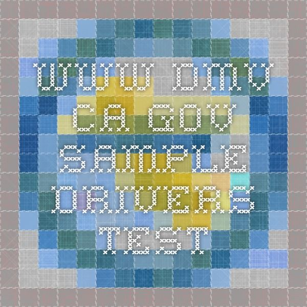 Sample Drivers Test Penelope Dmv Test