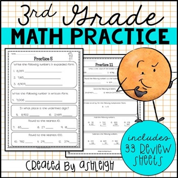 3rd Grade Math Review Spiral Review Worksheets With Images