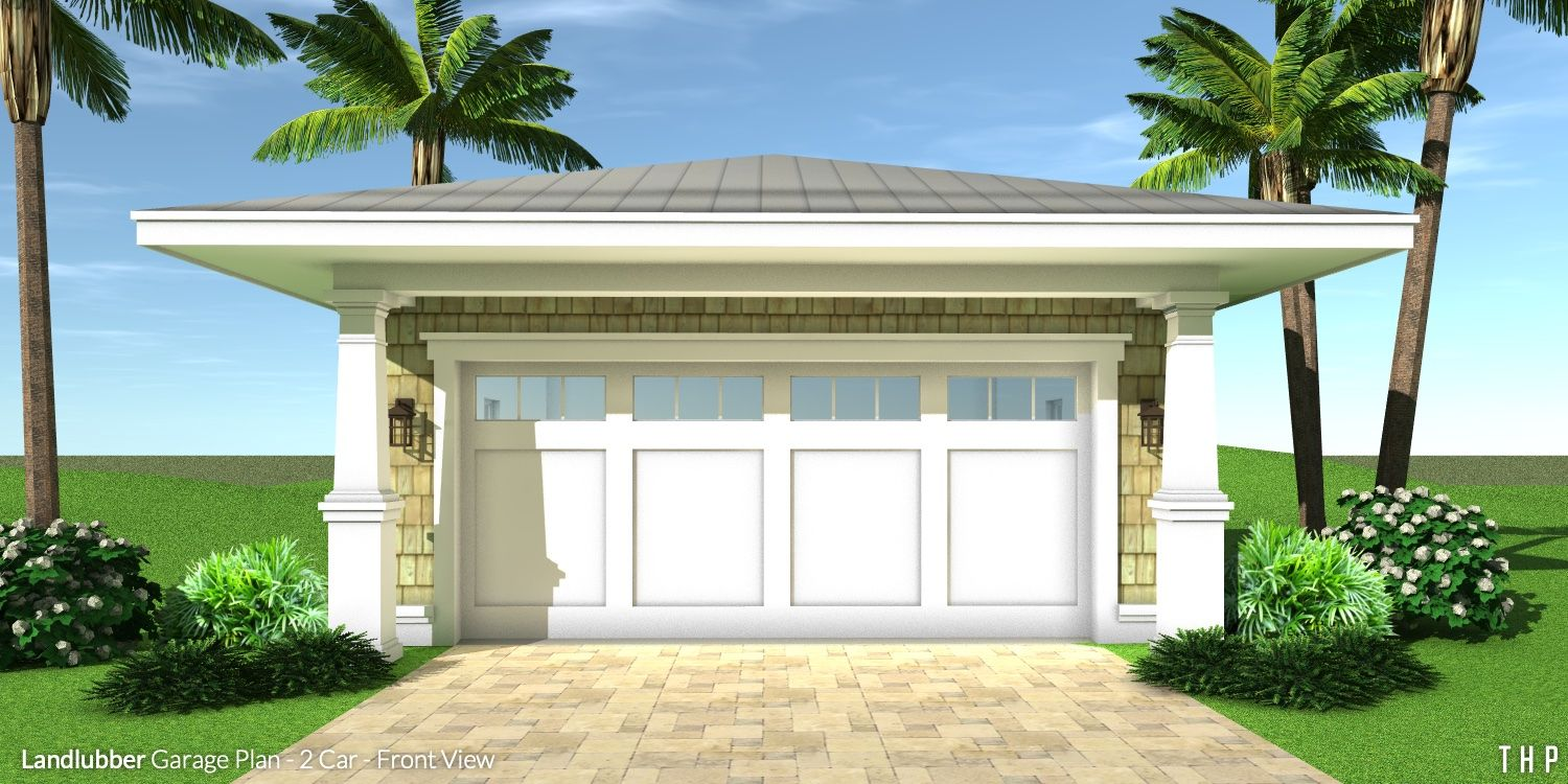 Landlubber Garage Plan 2 Car Garage Plans Garage Plan Beach House Plans