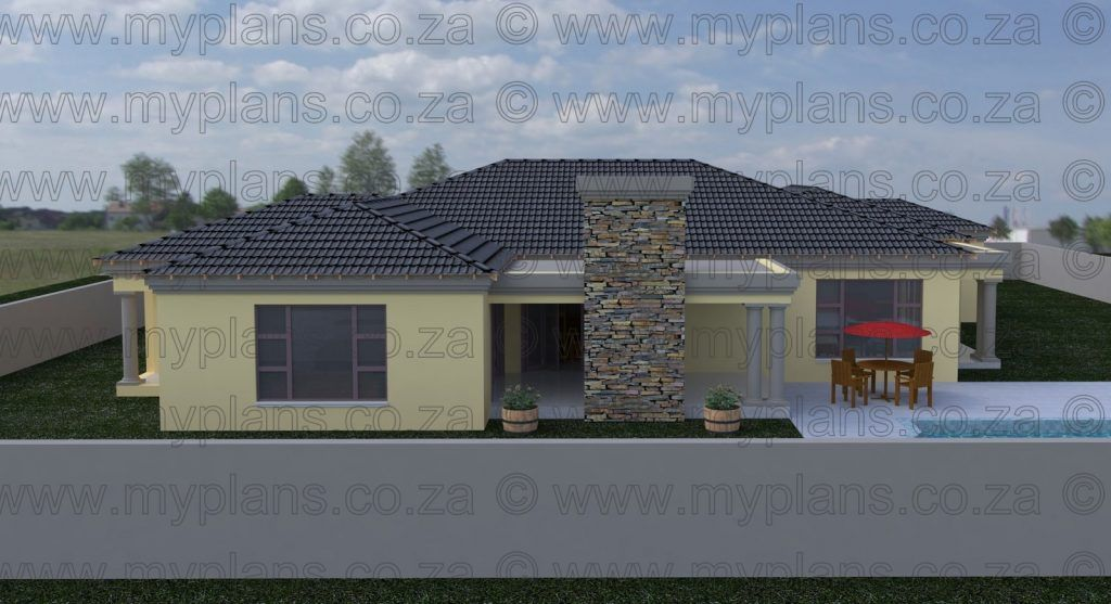 3 Bedroom House Plan Mlb 069s House Plans South Africa Bedroom House Plans Tuscan House Plans