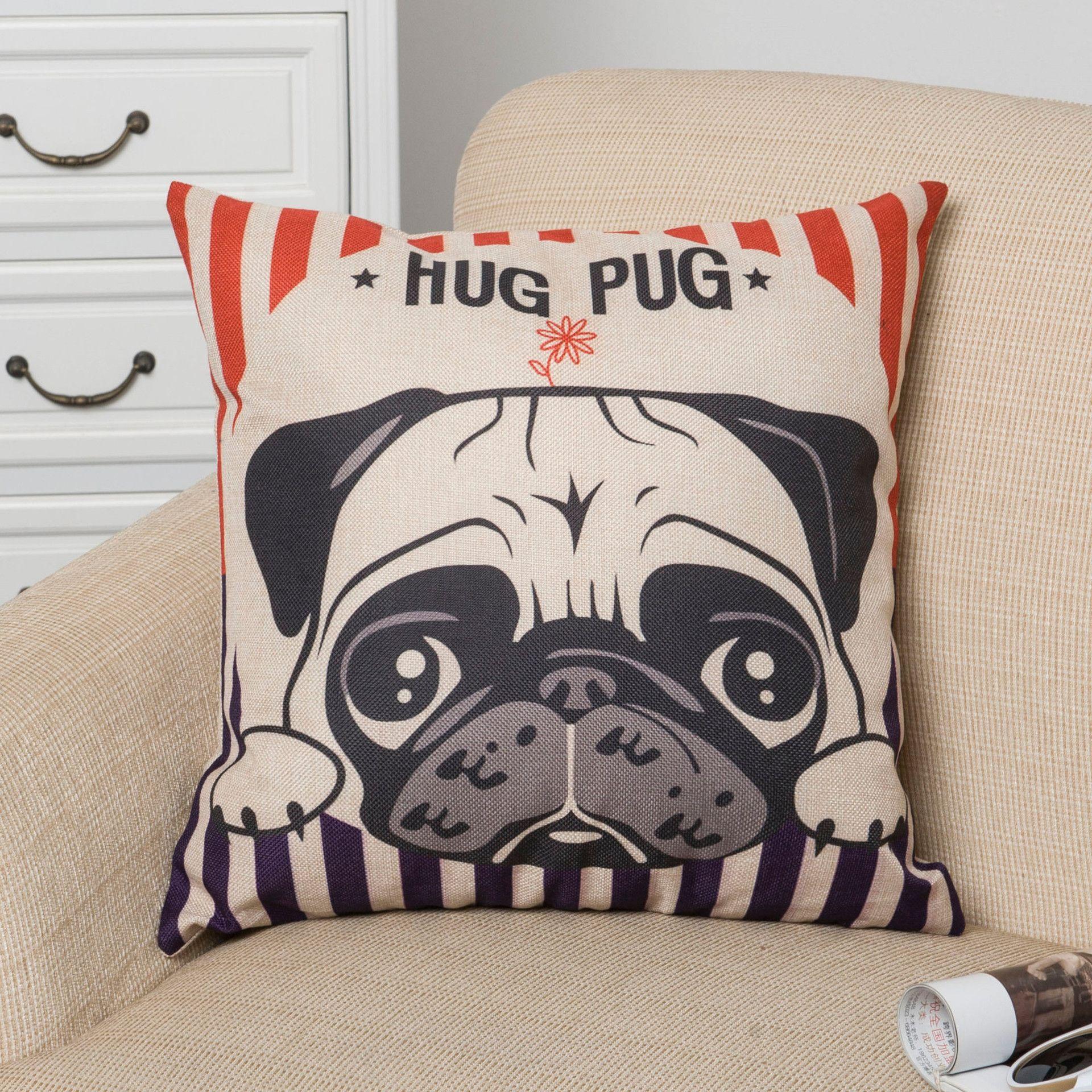inspirational inspirational cool throw pillows   nordic style  - inspirational inspirational cool throw pillows   nordic style animalpillowcase painting french bulldog and pug