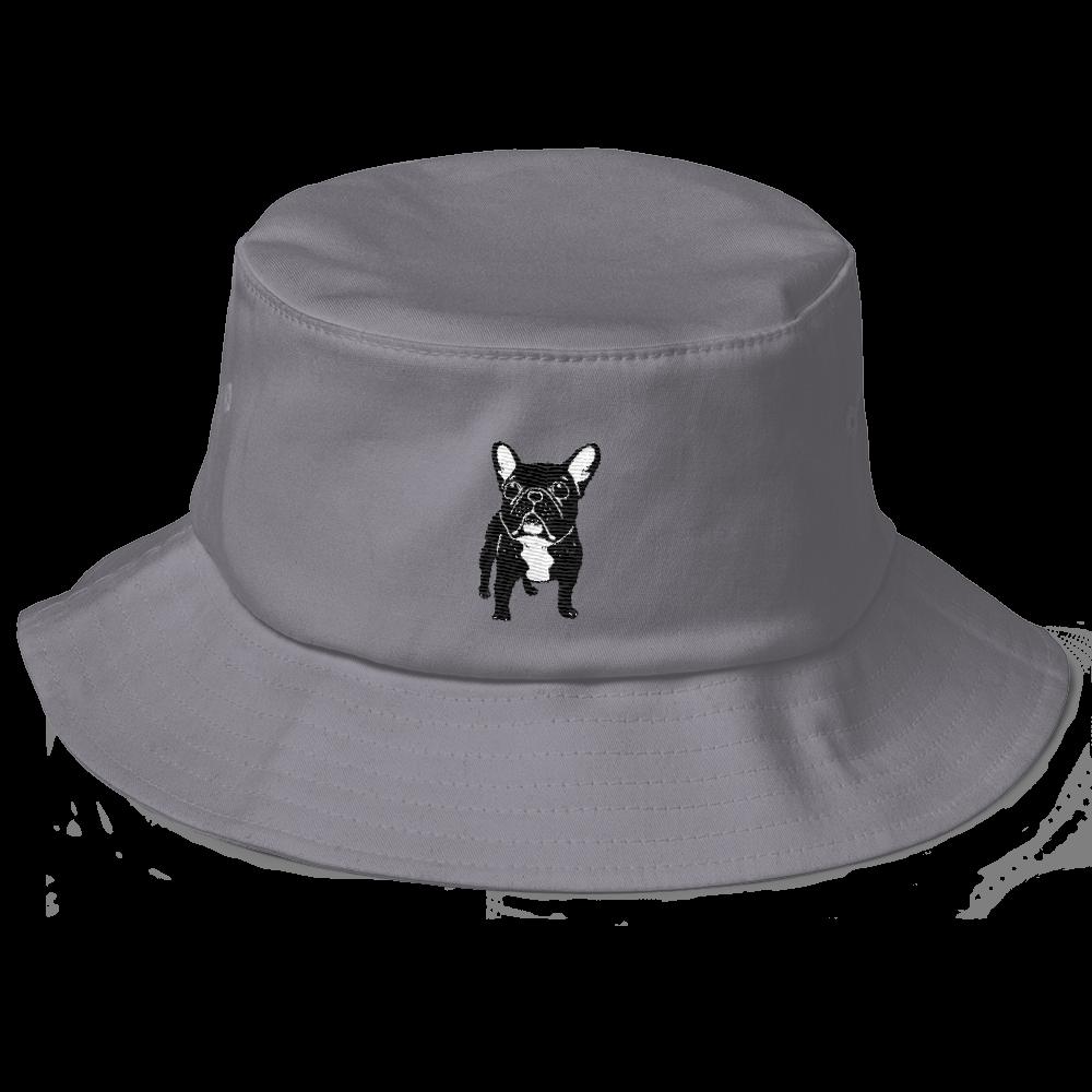 Super cute brindle French Bulldog Puppy Old School Bucket Hat ... 0b6bb255dcab