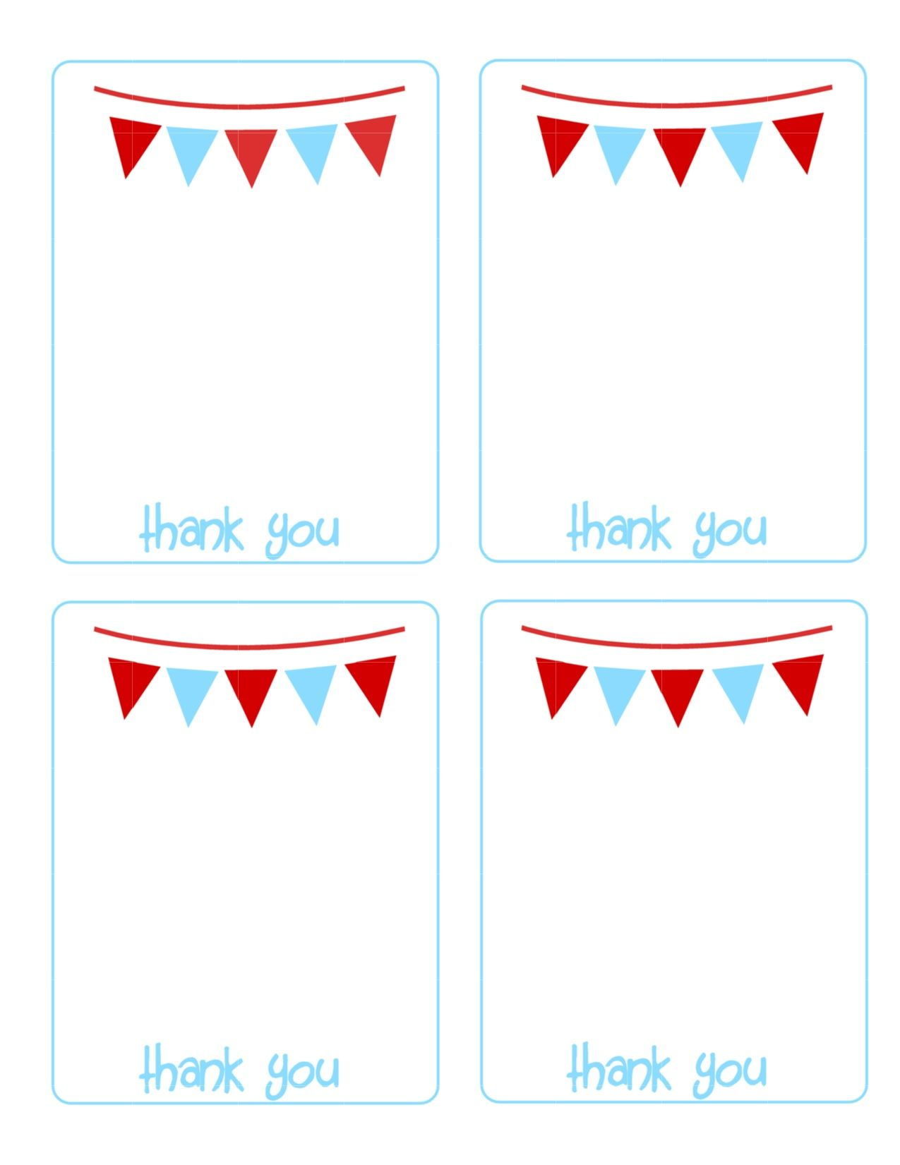 Printable Thank You Cards The House Of Hendrix Printable Thank You Cards Thank You Cards From Kids Printable Thank You Notes