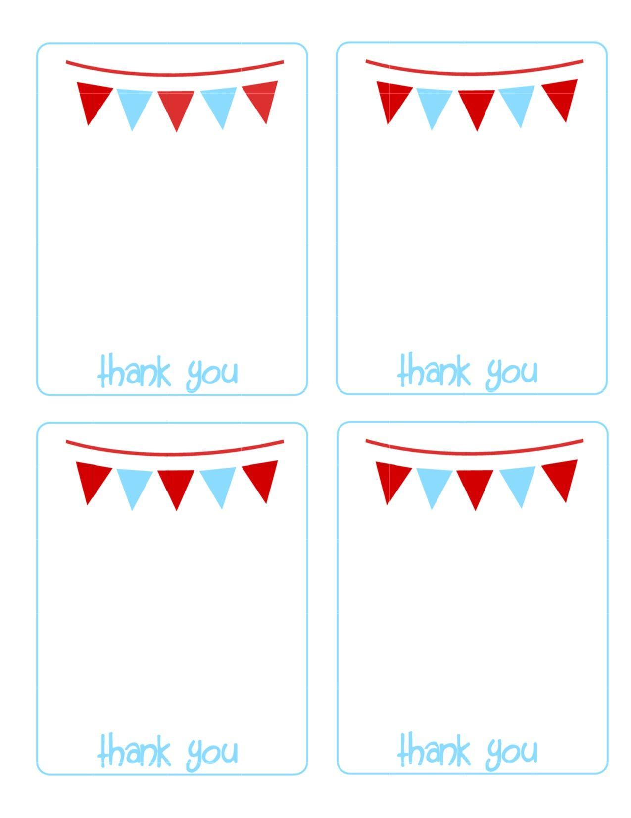 Kids Printable Thank You Cards