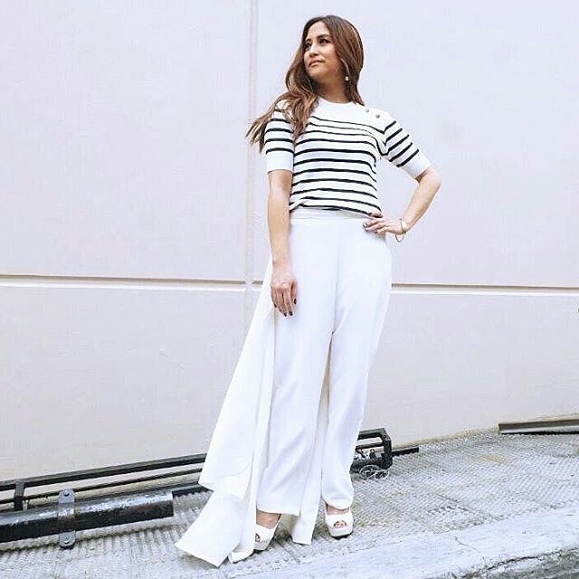 #JolinaMagdangal #latepost Jolina beats the summer heat in a striped Details knit top with gold buttons. On the ASAP set. #ootd #celebrity #style #jolina #summerfashion2017 #separates #stripes #knittop  @Regrann from @detailsph - http://tipsrazzi.com/ipost/1513602562644549481/?code=BUBZYLljJ9p
