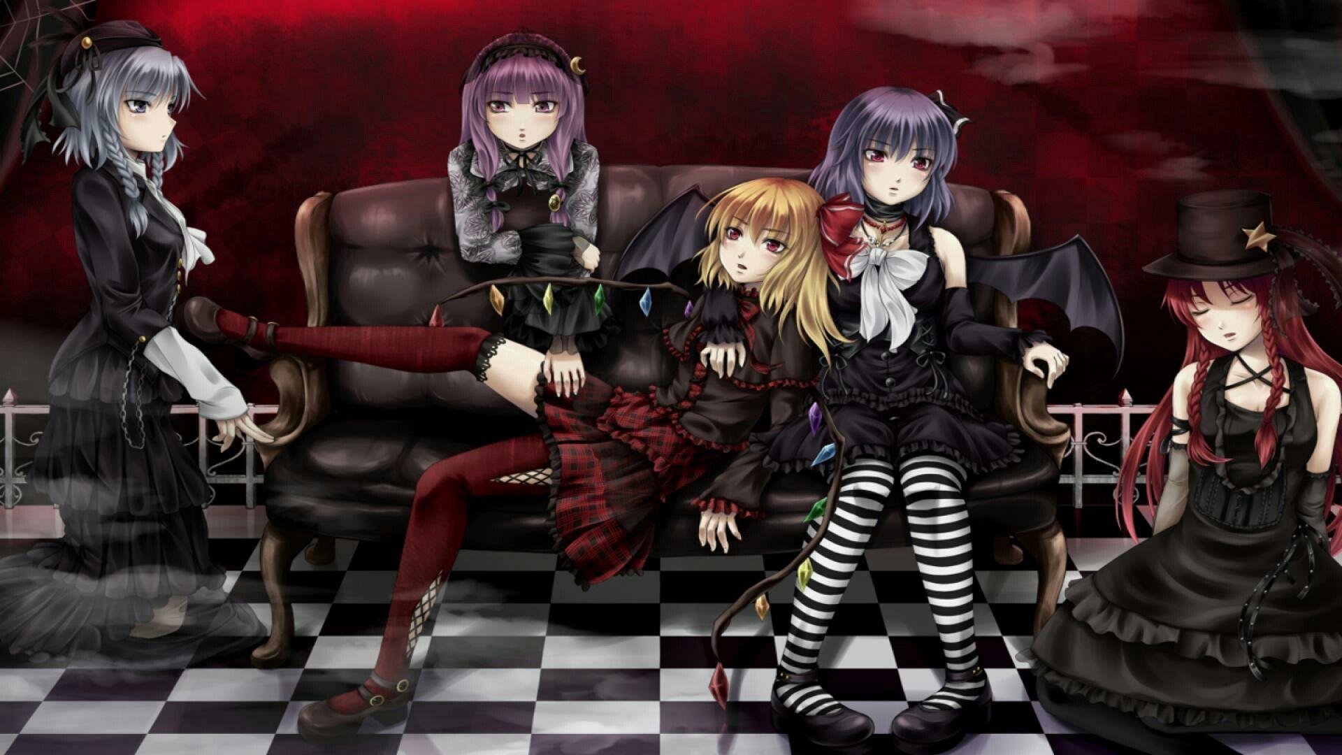 Anime Gothic Girls Gothic Anime Anime Background Anime