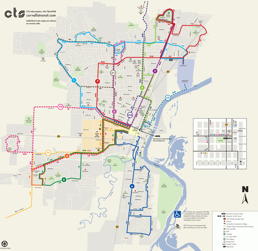 CTS Bus system map. I often get to work this way.