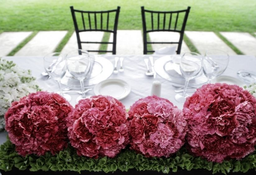 decoración de casamiento con esferas florales   boda elegante