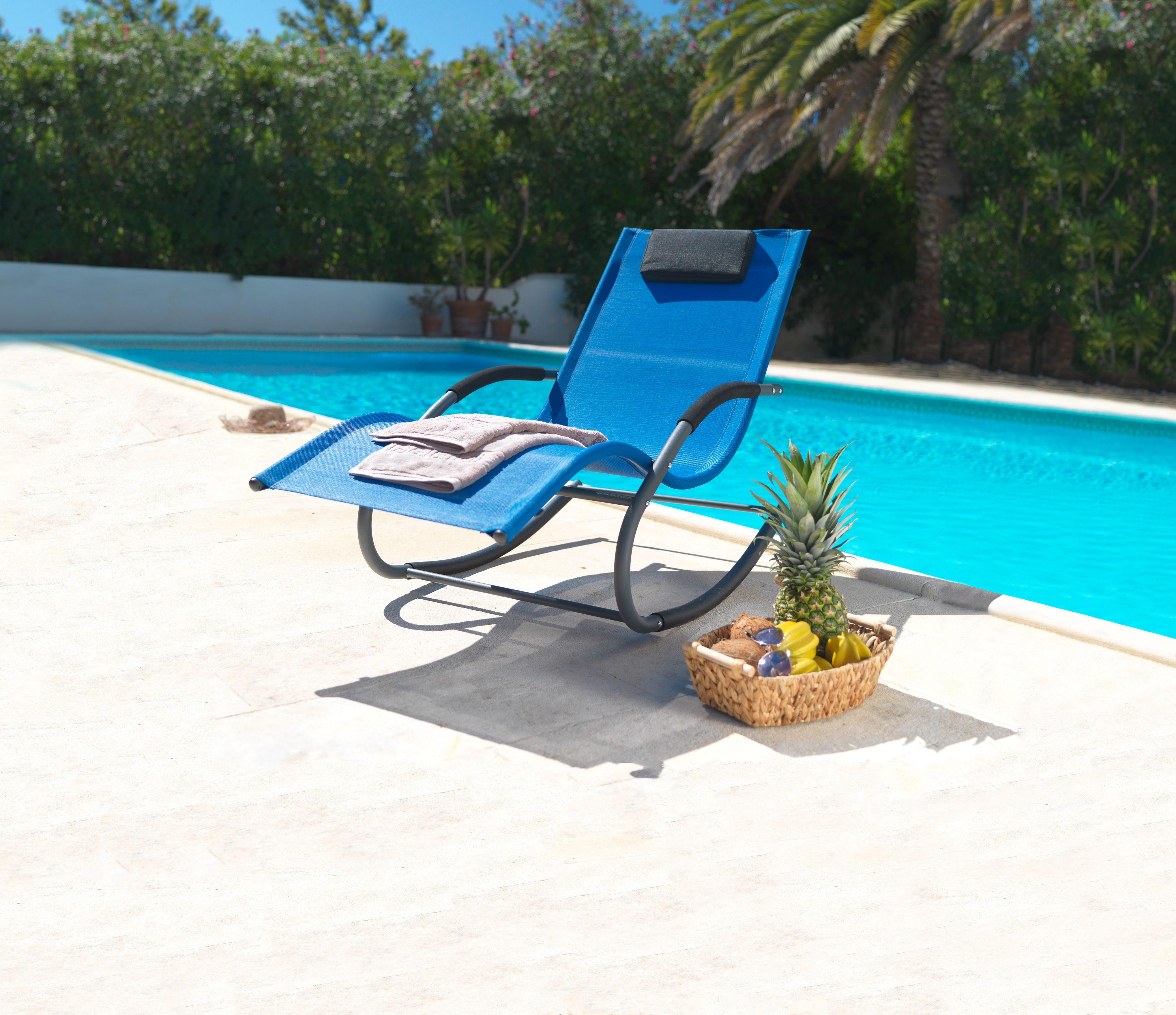 Garten Ideen Sonnenliege mit SchaukelFunktion
