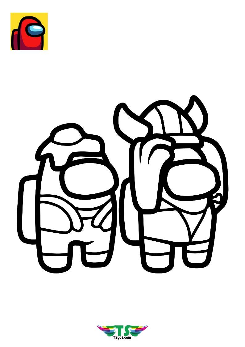 Among Us Coloring Pages Red Crewmate Coloring Pages Cute Little Drawings Cute Easy Drawings