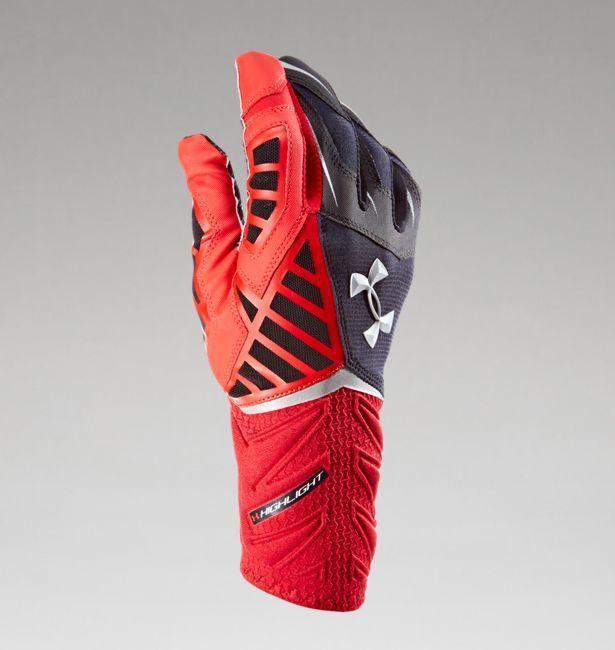 under armour nitro gloves. men\u0027s ua nitro warp highlight football gloves under armour l