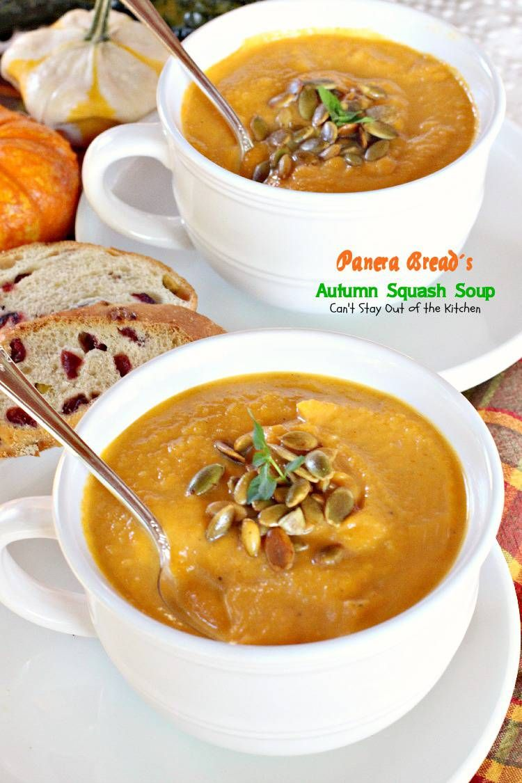 Panera Bread's Autumn Squash Soup Recipe Autumn squash