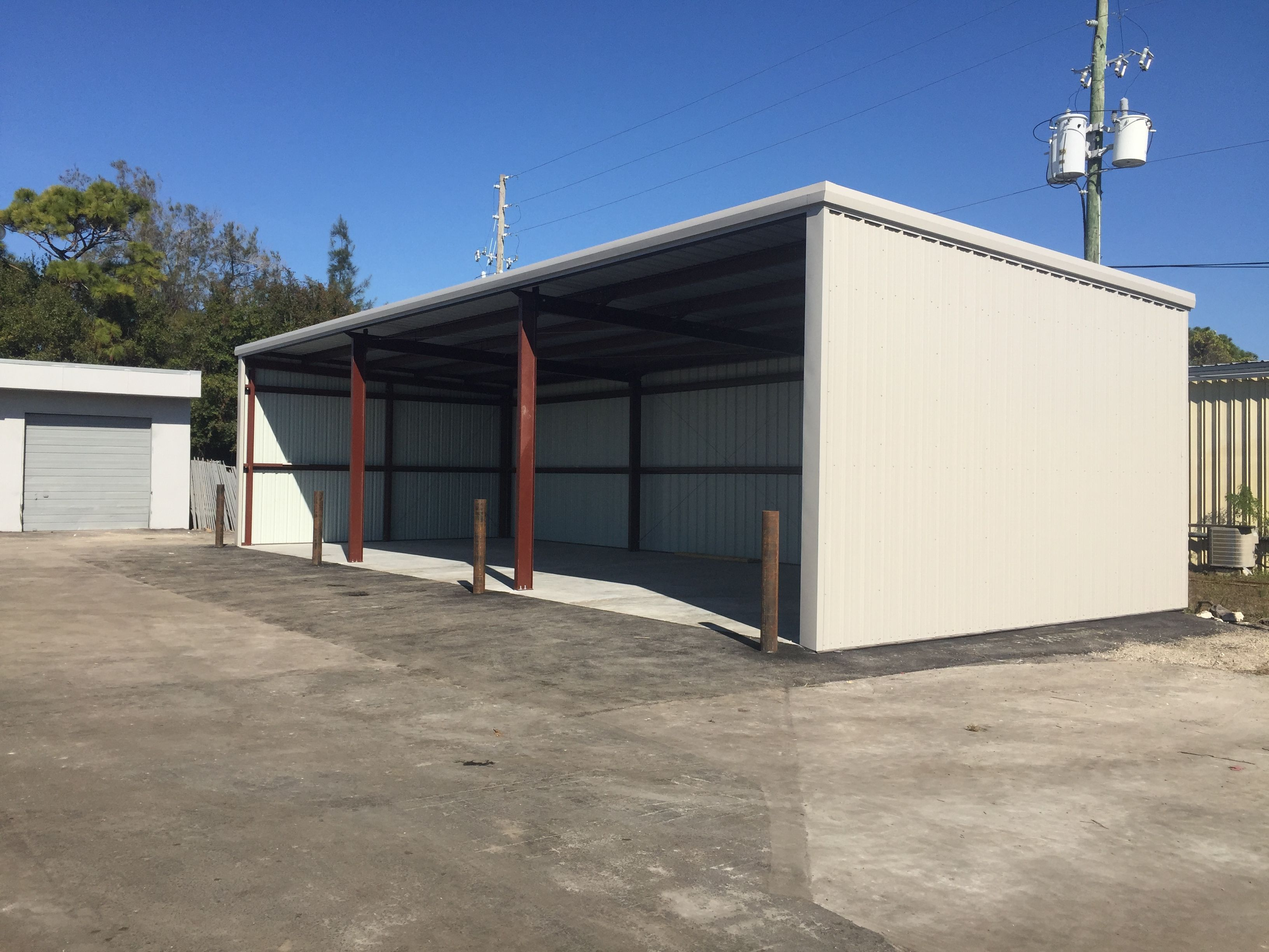 Custom Steel Building • 3sided Steel Storage Building