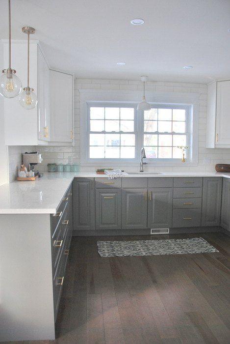 A Gray And White Ikea Kitchen Makeover White Ikea Kitchen White Kitchen Makeover Classic Kitchen Design